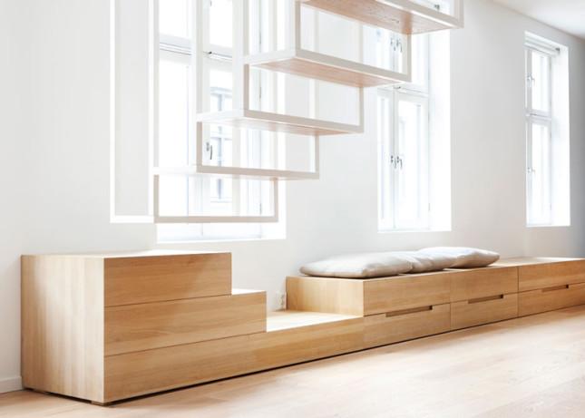 Podkrovní byt v Oslu, studio Haptic, zdroj: dezeen.com