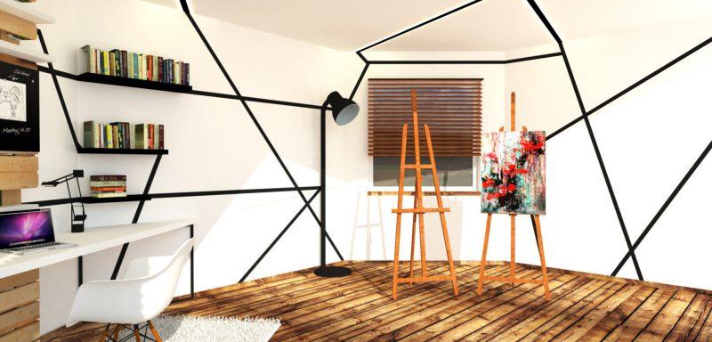 LIBEREC, atelier a pracovna pro studenta umění
