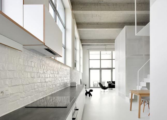Podkrovní byt v Bruselu, ADN Architectures, zdroj: dezeen.com