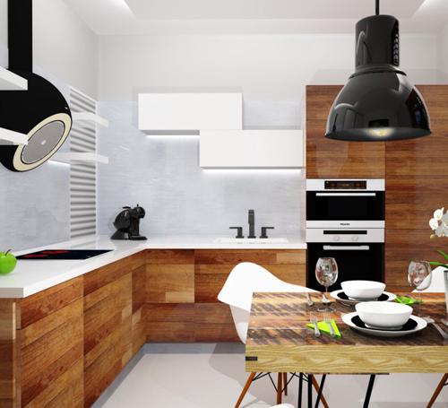 CHRASTAVA, kuchyň s jídelnou
