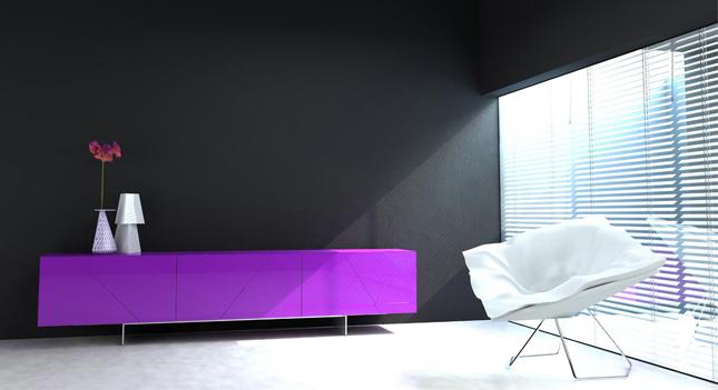 Barva roku 2018 interiér
