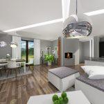 KRÁSNÁ STUDÁNKA, kuchyň s obývacím pokojem