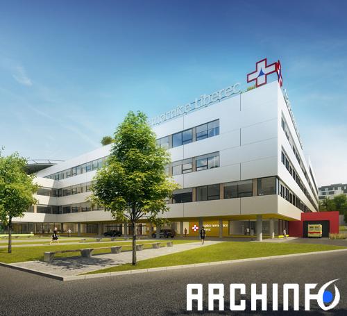 soutěž nemocnice liberec, archinfo.sk, josef trakal